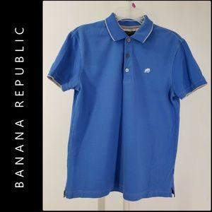 Banana Republic Men Short Sleeve Slim Polo Shirt